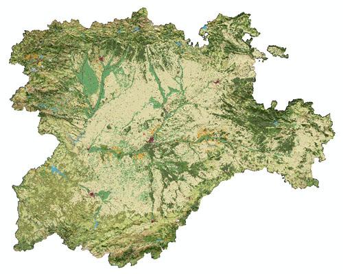 Mapa Castilla Y Leon.Mapa De Usos De Suelo De Castilla Y Leon Laboratorio De